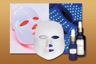 Lichttherapie (Mask + serum therapie + lichttherapie).